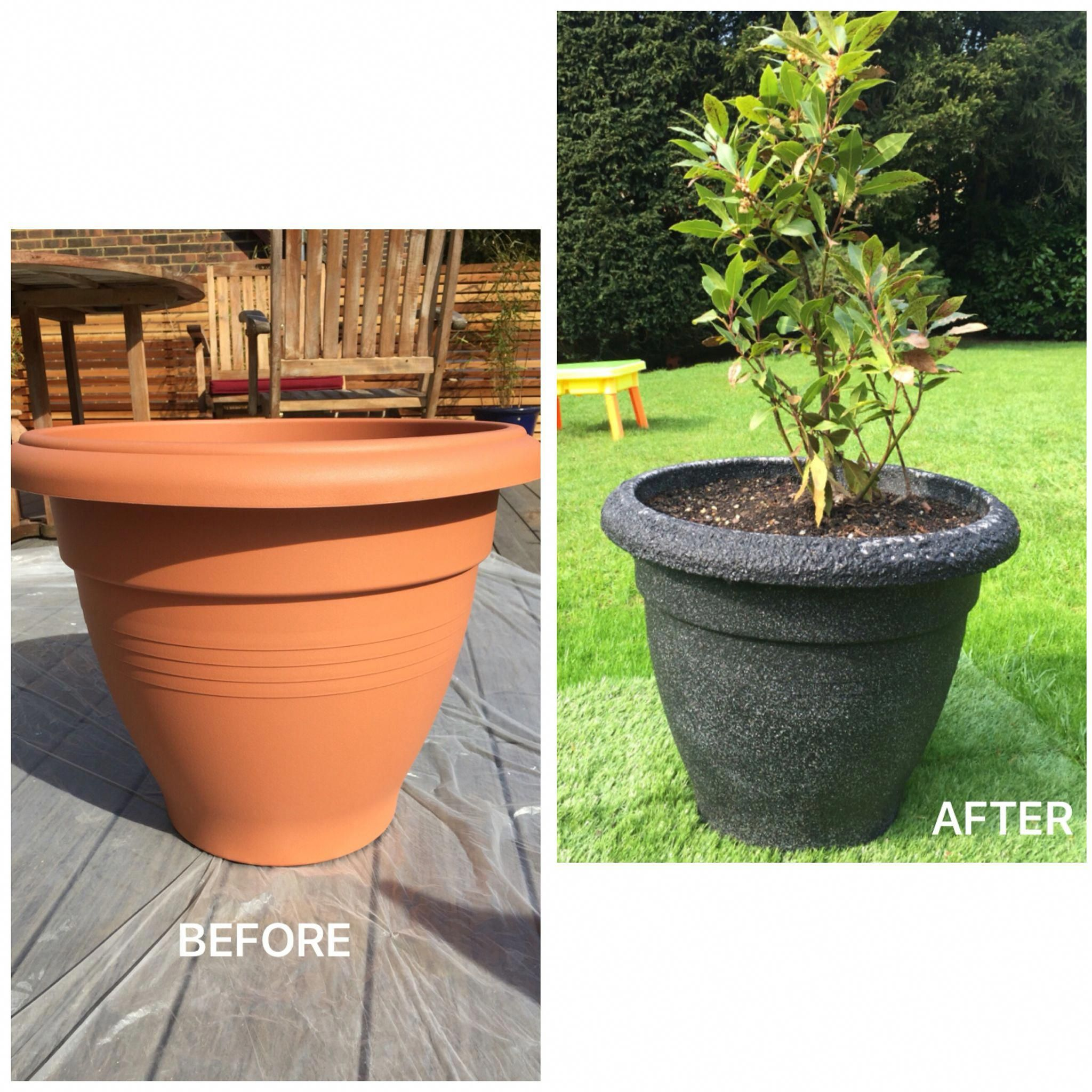 Plastic Plant Pot Sprayed With Stone Effect Paint. Sc 1 St Pinterest  sc 1 st  startupinsights.org & Paint Plastic Flower Pots \u0026 Painted Personalized Flower Pot Via Mall ...