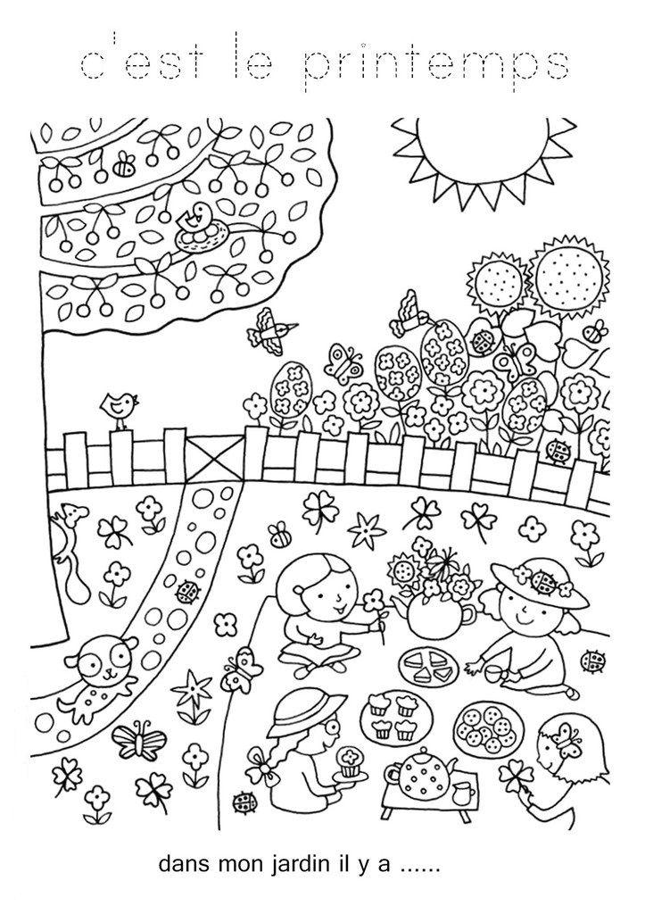 Coloriages Printemps Assistante Maternelle Argenteuil Orgemont