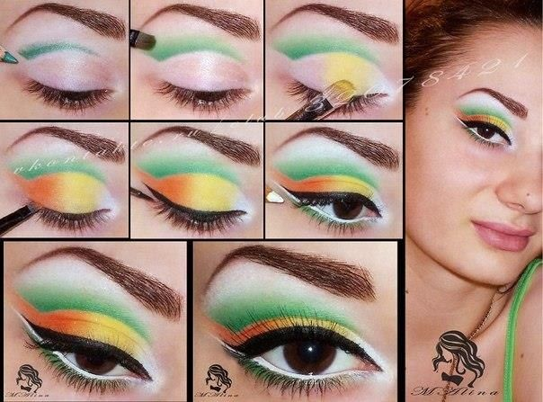 tropical makeup tuto nails and makeup pinterest tropical makeup makeup and makeup ideas. Black Bedroom Furniture Sets. Home Design Ideas