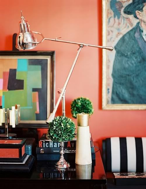 Want to try something unusual with this palette? Incorporate sharp colors like black and white or pops of green.