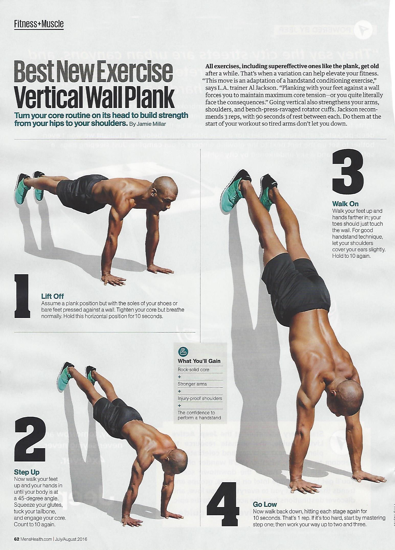 menshealthmag wall plank from trainer al jackson health