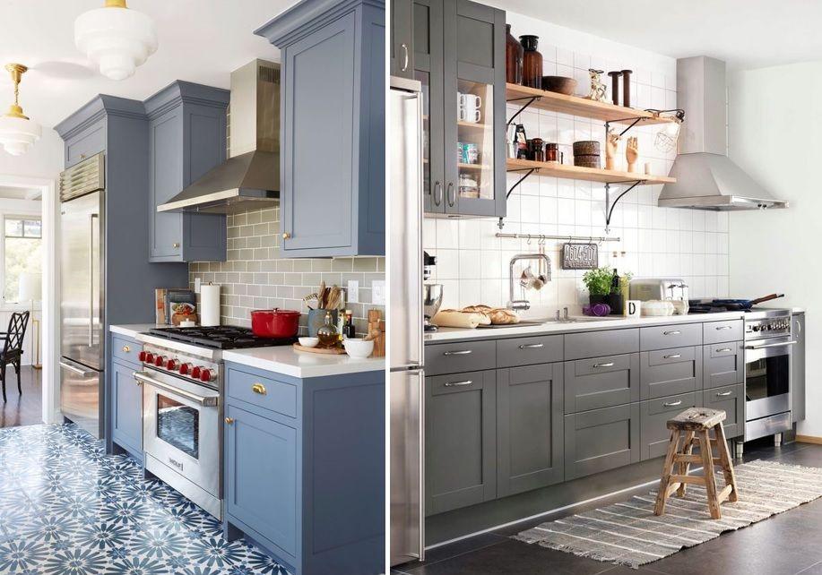 Verdes Azules Negros Y Grises Tendencia En La Cocina Mi Casa No Es De Munecas Blog Y Asesoria Online En Armarios De Cocina Gabinetes Cocina Tendencias