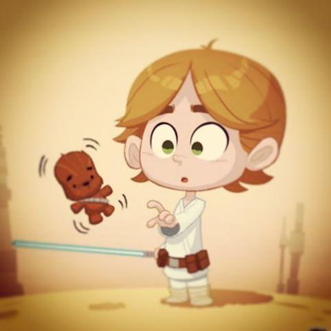 Baby luke #starwars #skywalker #drawing #characterdesign #illustration #cute