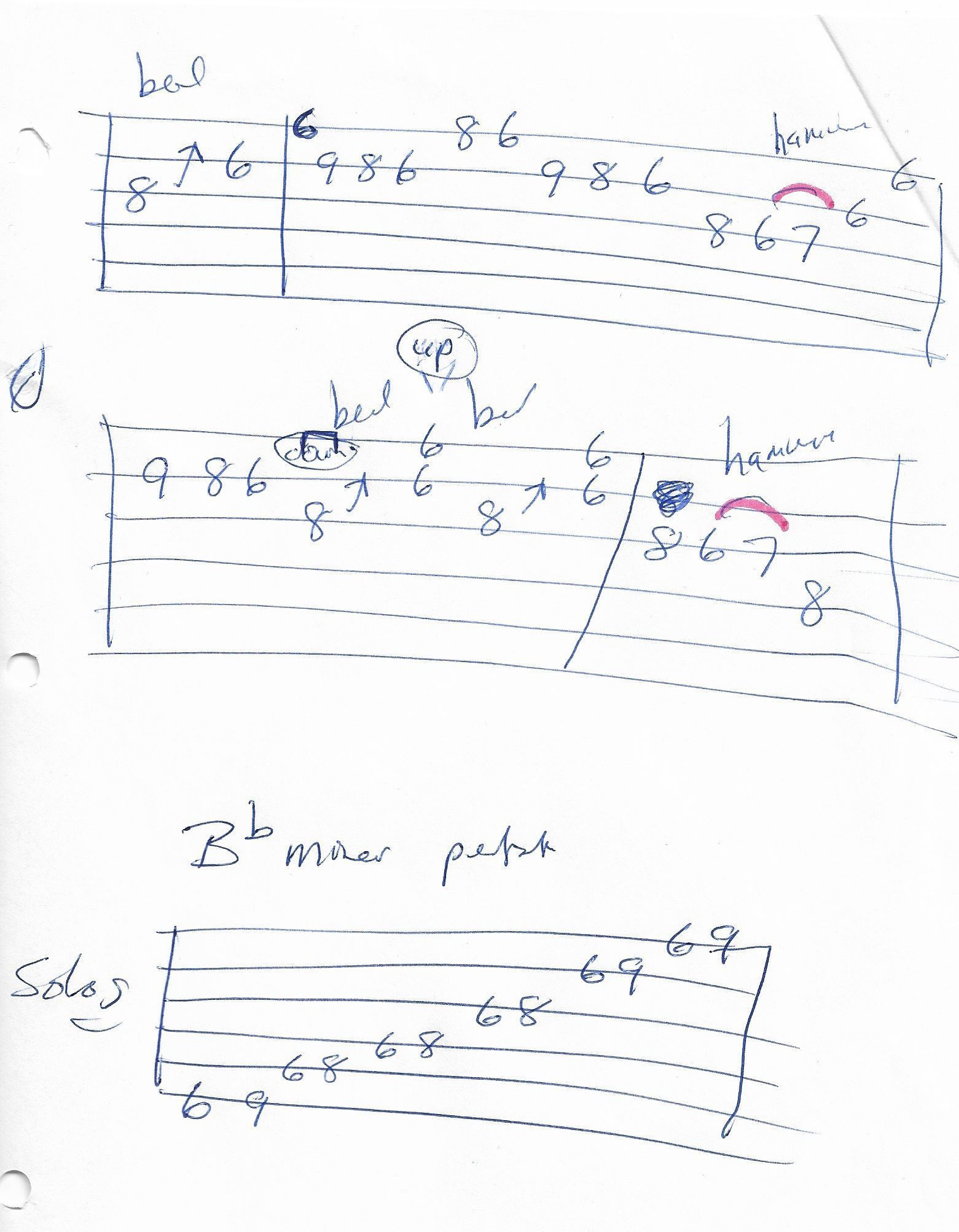 Johnny B Goode Chuck Berry Guitar Intro Solo Tab Page 2 Of 2