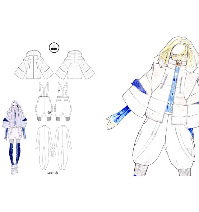 Fashion Portfolio - fashion design drawings; fashion illustration; fashion sketchbook // Rebecca Hand