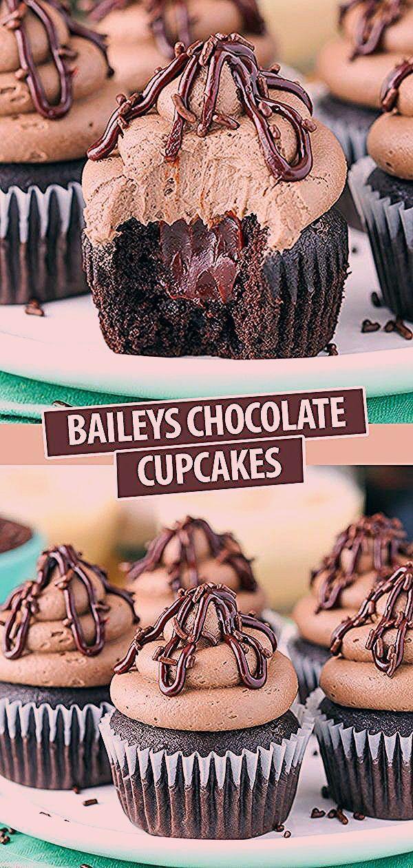 Photo of Fluffy Baileys Schokoladen Cupcakes – My Blog