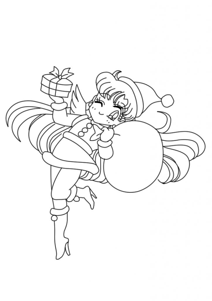 Sailor V Xmas Coloring Page Sailor Moon Coloring Pages Coloring Pages Sailor Moon