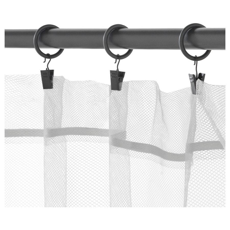 Ikea Syrlig Curtain Ring With Clip And Hook Curtains With Rings Curtain Rings With Clips Curtain Clips