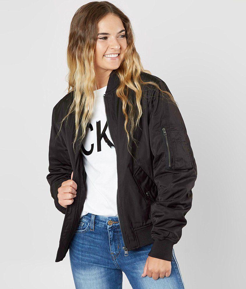 Calvin Klein Logo Jacket Women S Coats Jackets In Black Buckle Jackets For Women Jackets Women S Coats Jackets [ 991 x 845 Pixel ]