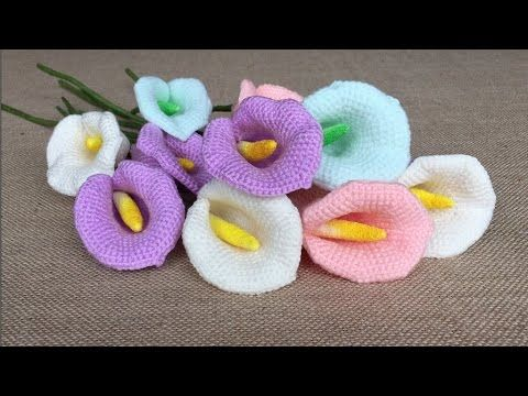 How To Crochet A Calla Lily | Pinterest | Fadenspeicher, Lilien ...