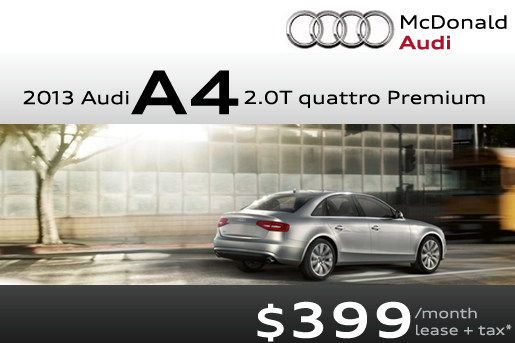 New Audi A Lease Special Now Available At McDonald Audi In - Mcdonald audi