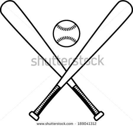 Baseball Bats And Baseball Vector Illustration Baseball Vector Baseball Bat Espn Baseball