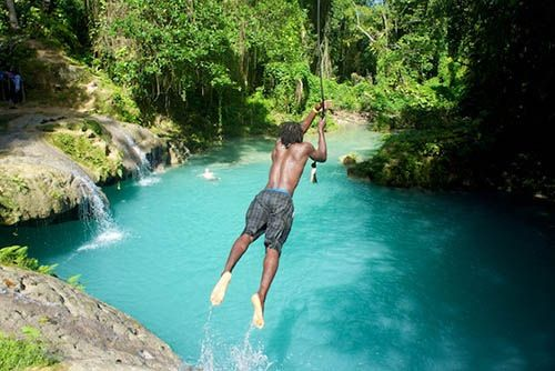 Blue Hole In Jamaica Where The Blue Lagoon Movie Was Filmed