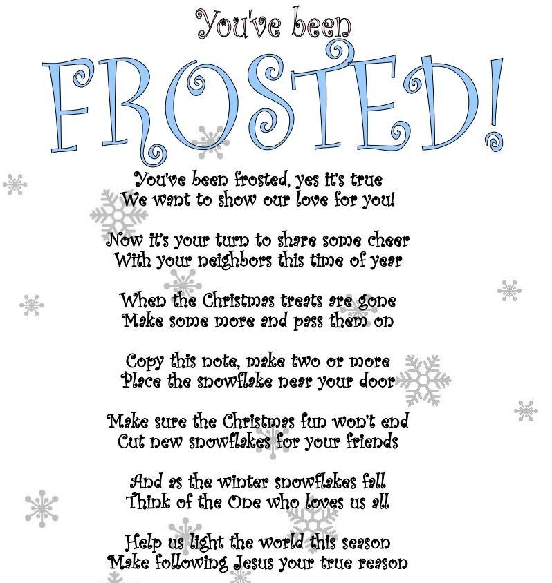 Youve been frosted secret santa poem Secret santa poems