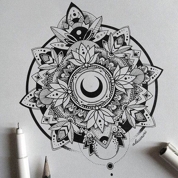Beautiful Moon Mandala // More Drawings On My Tumblr, Instagram And Etsy :D