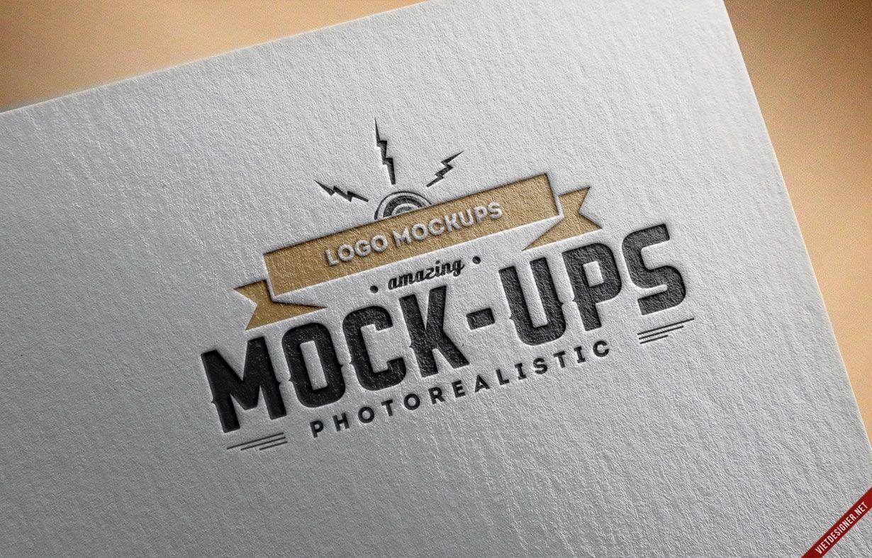 mockup, psd, logo, paper, giấy, download