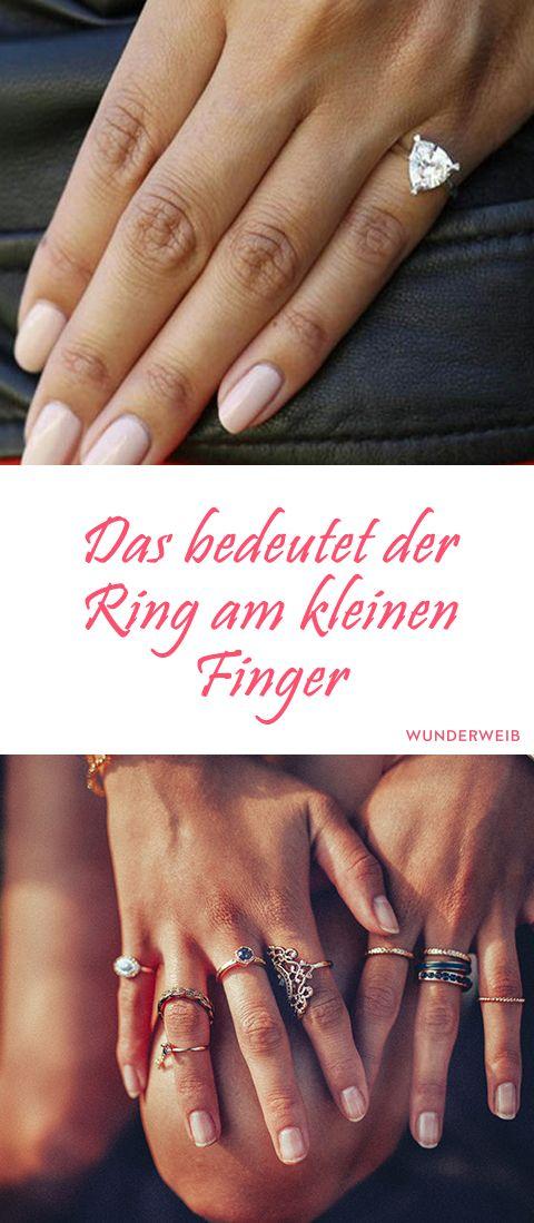 Das bedeutet der Ring am kleinen Finger (mit Bildern