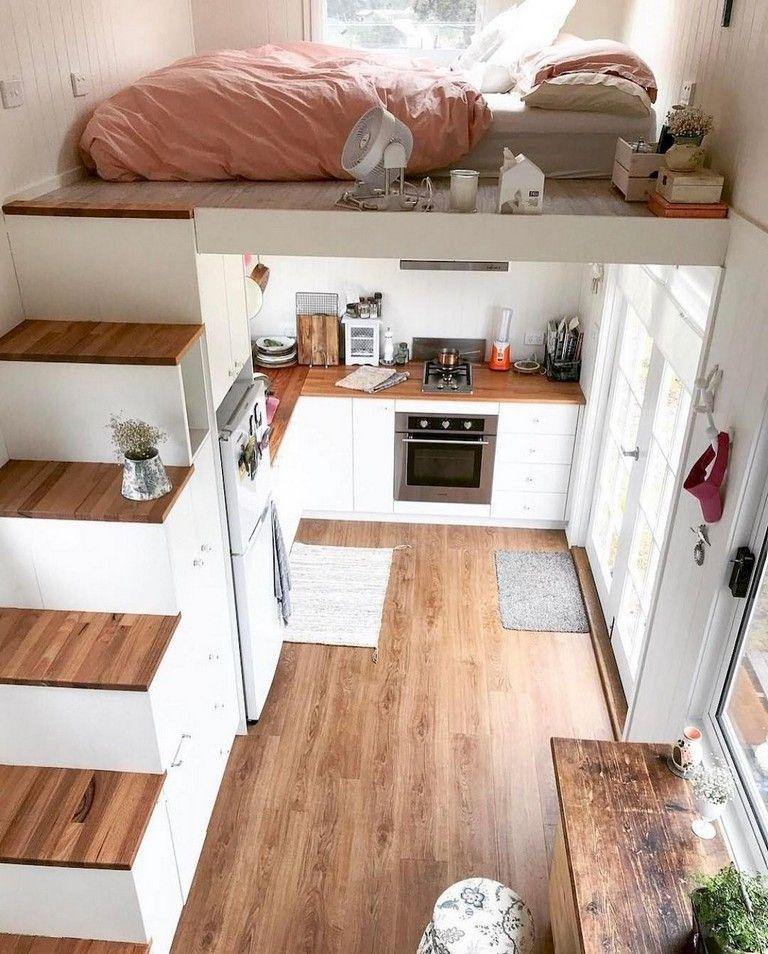 53 Smart Tiny House Loft Stair Ideas Tiny House Living Room Tiny House Interior Design Tiny House Living