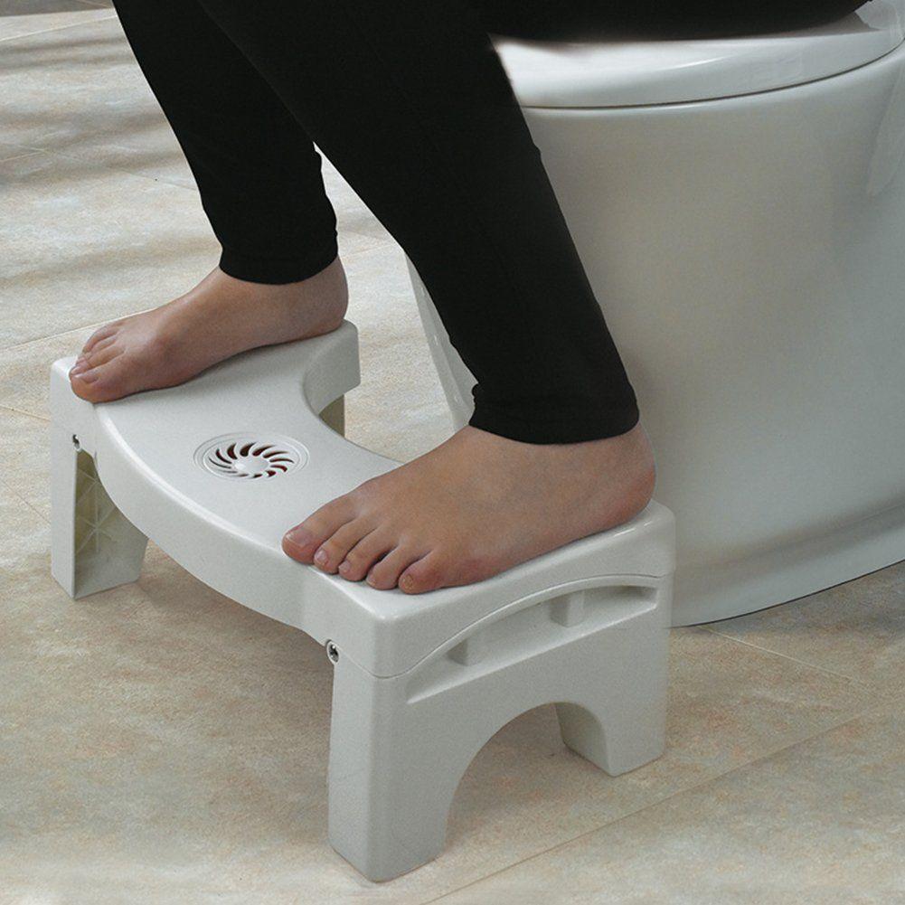 Kids Foldable Footstool Multifunctional Bathroom Step