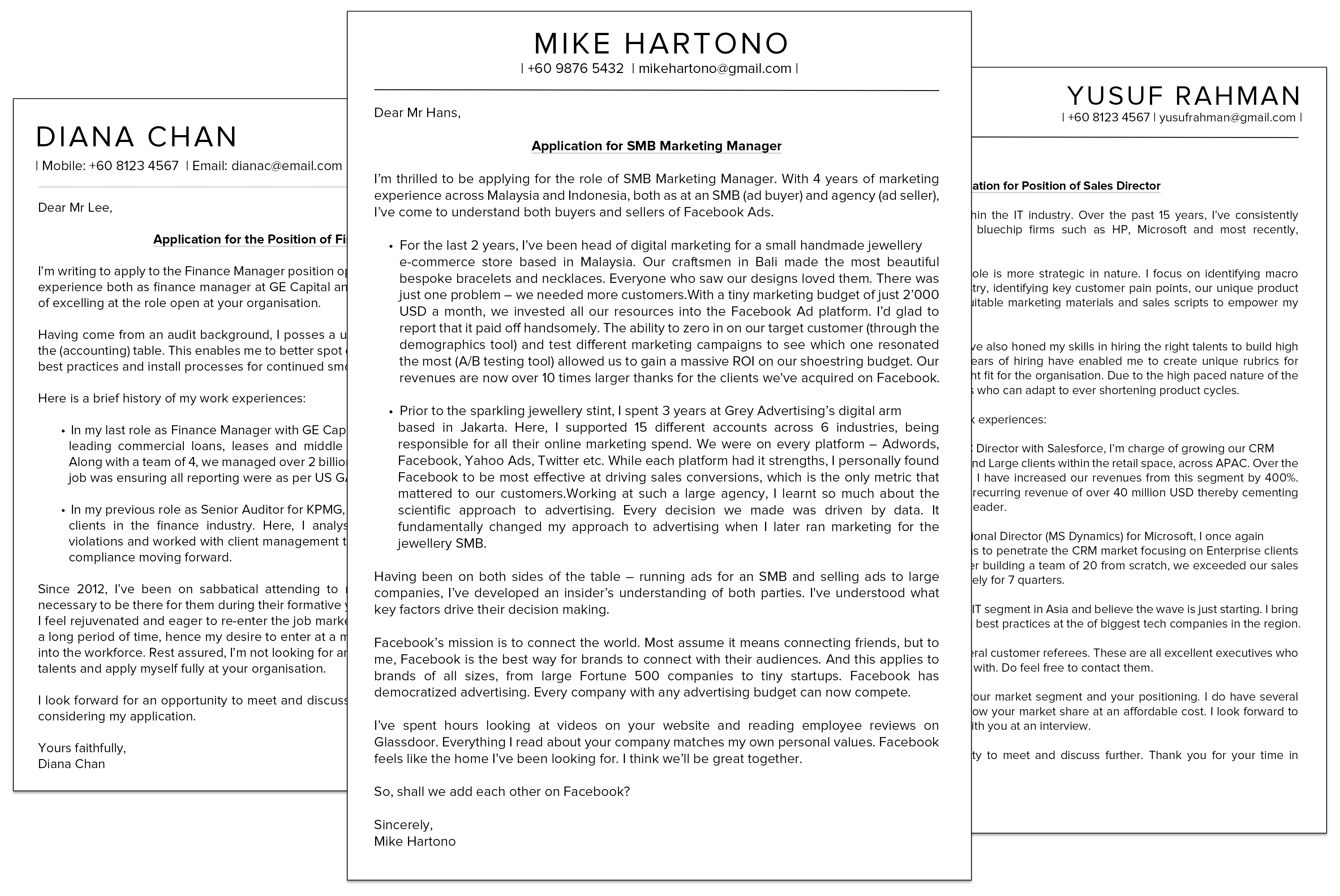 Obtain Amazing Cover Letter Example Advertising  That Wow