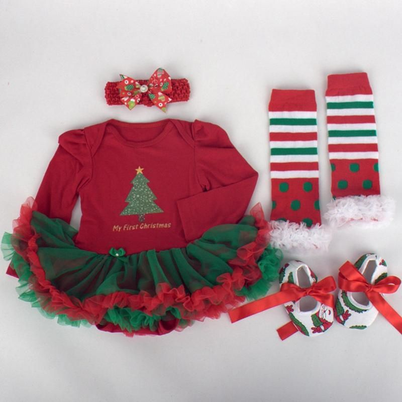 My 1st Christmas Red 4-piece Outfit Products Pinterest Products