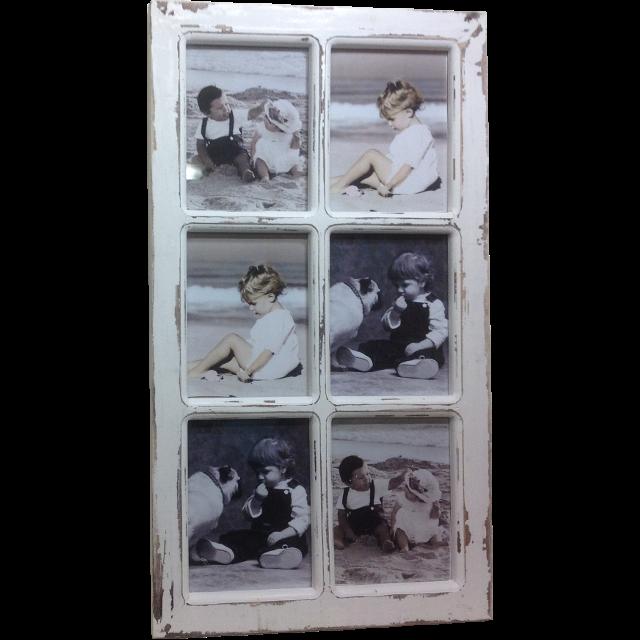 6 Window Photo Frame Antique White This Stunning Window Photo