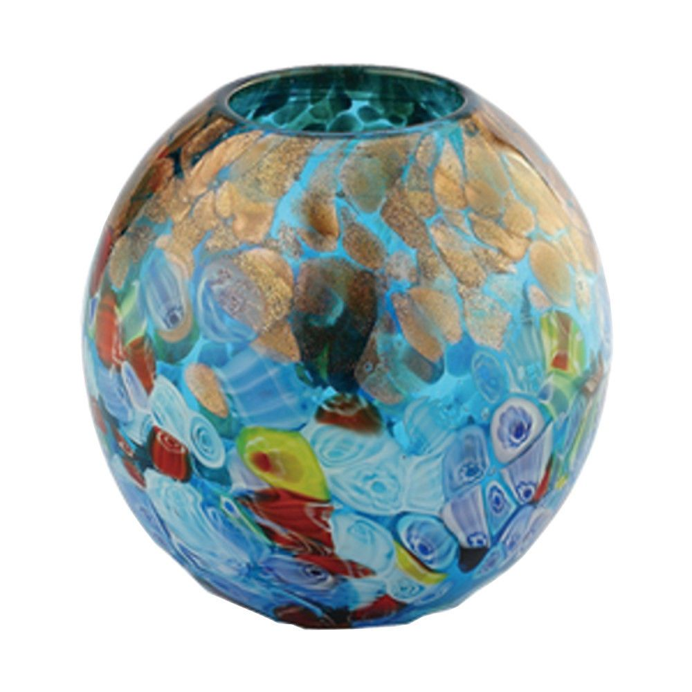 New 6 hand blown glass art vase blue italian millefiori new 6 hand blown glass art vase blue italian millefiori multicolor decorative reviewsmspy