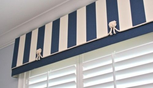 Nautical Fun Over Shutter Valance Window Treatments Beach Style