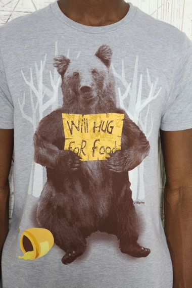 Begging Bear Tee by Ripple Junction at Urban Outfitters.