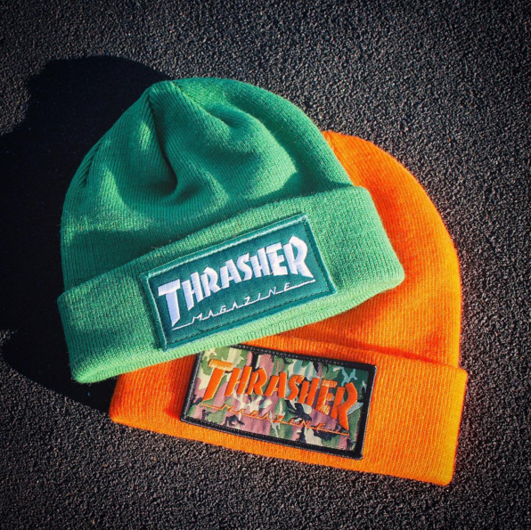 a3c06ec02df Thrasher Magazine Patch Beanies