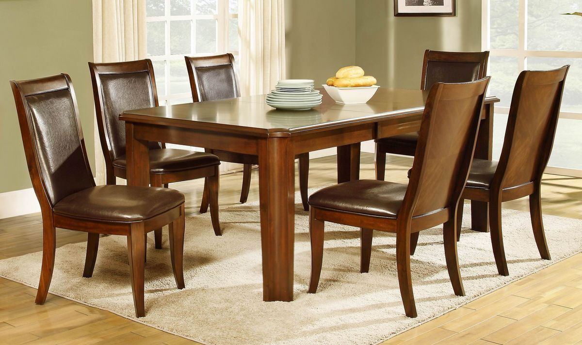 Wolfe Collection Regular Size 5 Pc Dinning Table Set(Table, 4 Chairs)A timeless design for your ...