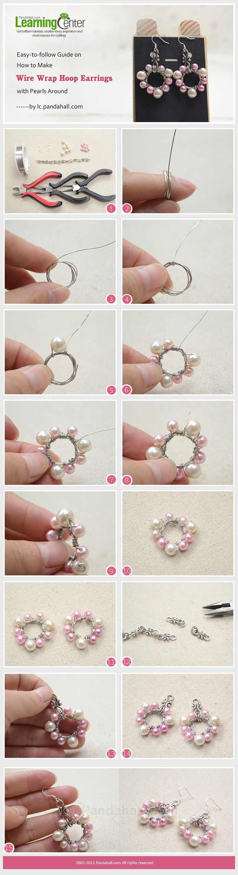 Easy-to-follow Guide on How to Make Wire Wrap Hoop Earrings with ...