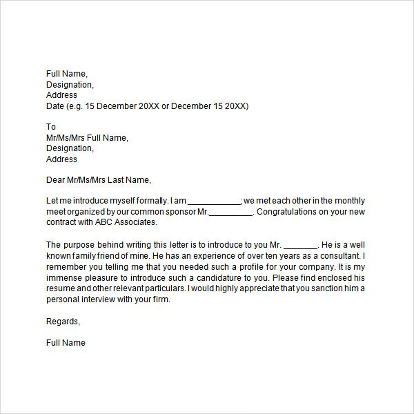 Image result for request for hotel franchise sample letter - letter of introduction sample