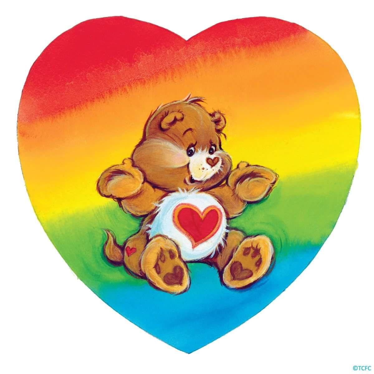 Tenderheart Bear In A Rainbow Heart