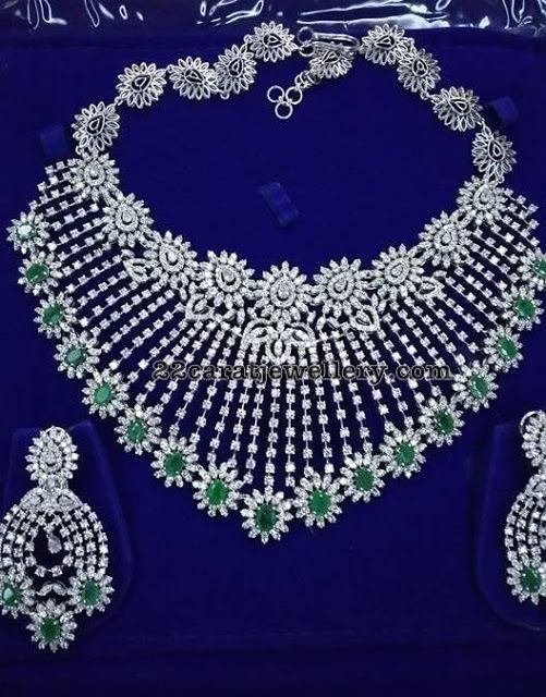 Heavy Diamond Necklaces Jewellery Designs Diamond Wedding Jewelry Diamond Necklace Indian Diamond Jewelry Necklace