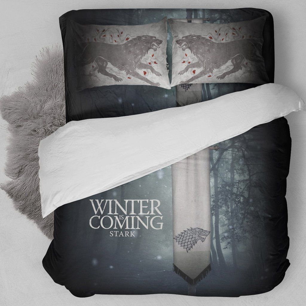 Game Of Thrones House Stark Bedding Set Bteeful Caprichos
