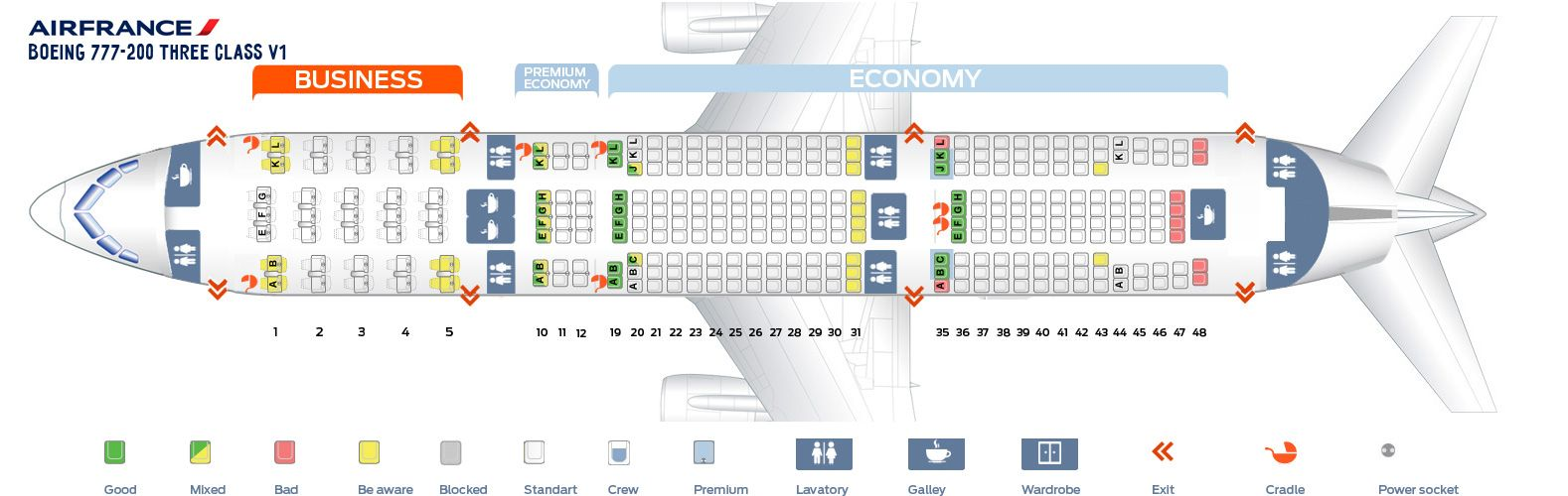 Air France Fleet Boeing 777 200er Details And Pictures