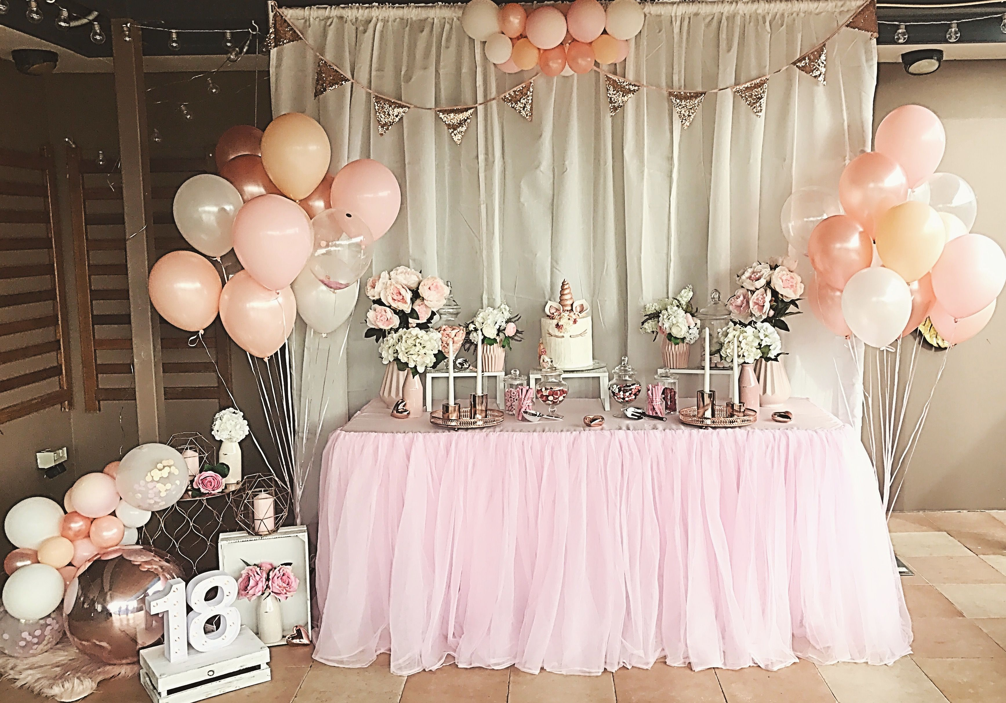 Blush Pink And Rose Gold 18th Birthday Party Styling By Stylish