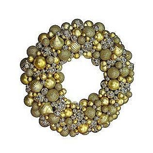 "Creative Design -30"" Christmas Ornament Wreath Gold"