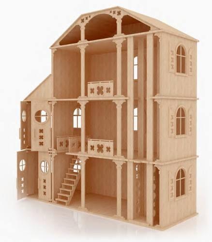 Casa fantasia para munecas barbie monster high en madera mdf 21490 mlm20210370299 122014 - Casa de munecas teatro ...