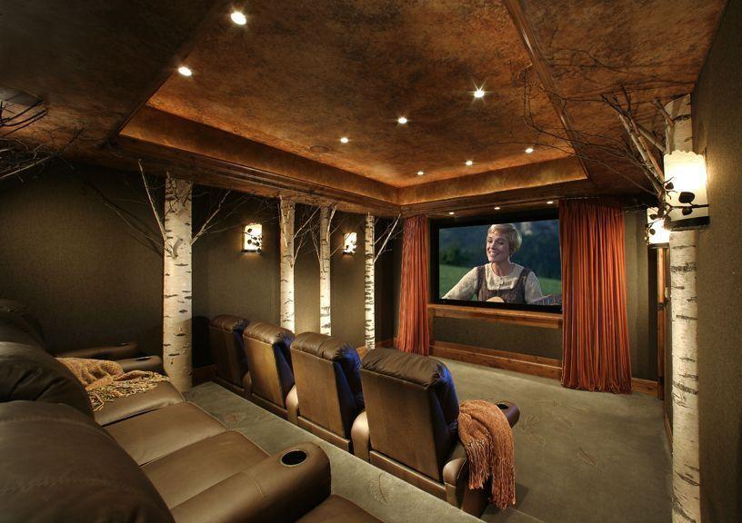 Awesome basement home theater ideas #hometheater #basements