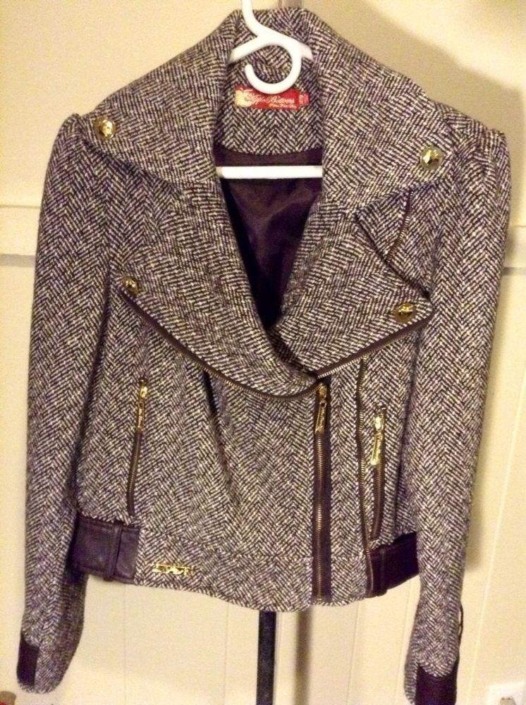 Apple Bottom jeans Women size L large basic jacket brown designer ...