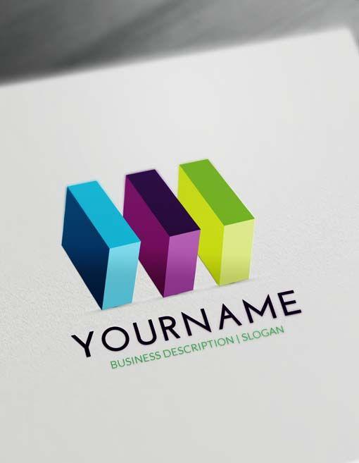 Free 3D Logo Maker 3D Cubes Logo Creator Online 3d