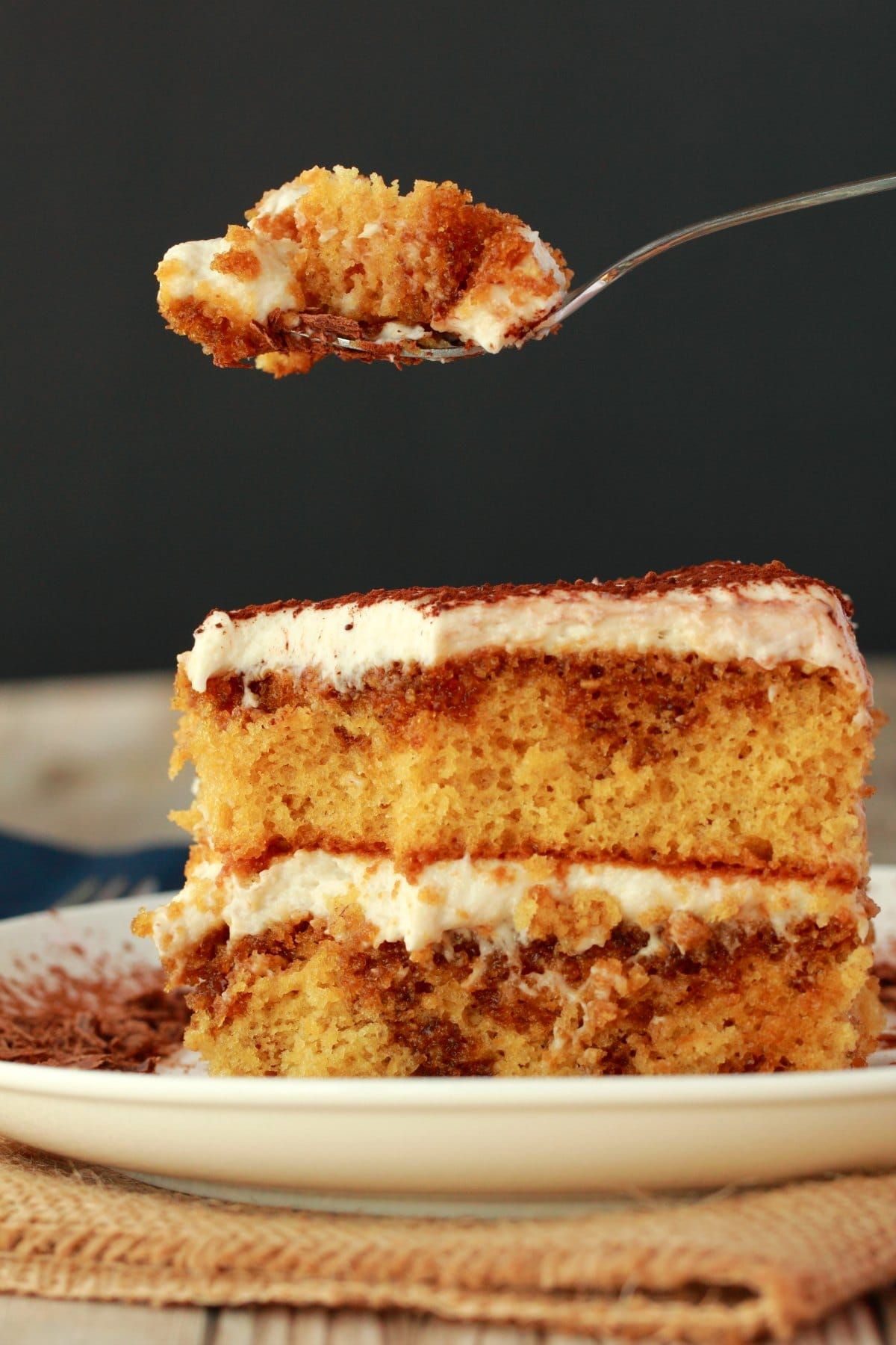Mind Blowing Vegan Tiramisu Layers Of Vanilla Sponge Cake Soaked In Coffee And Liqueur And Layered With A Cashew M Vegan Tiramisu Vegan Cake Recipes Desserts