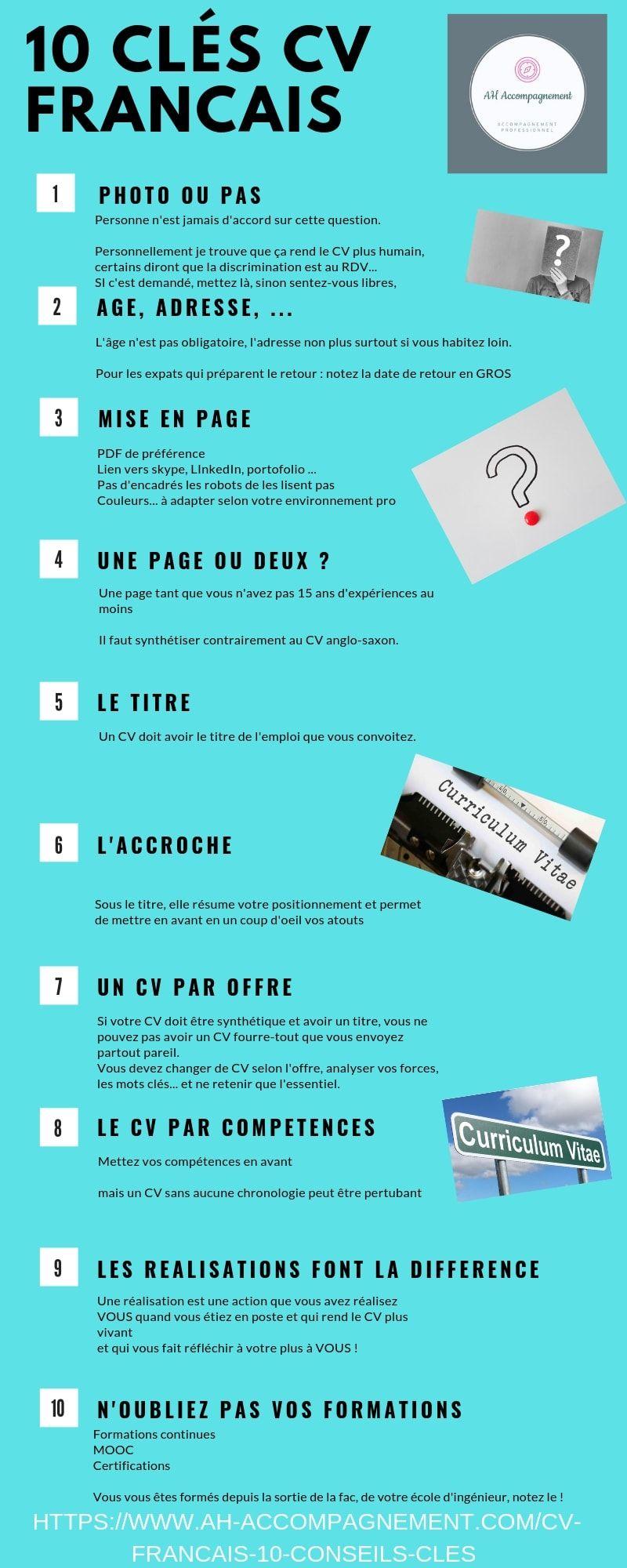 Cv Francais 10 Conseils Cles Cv Francais Recherche Emploi Conseils Pour Cv