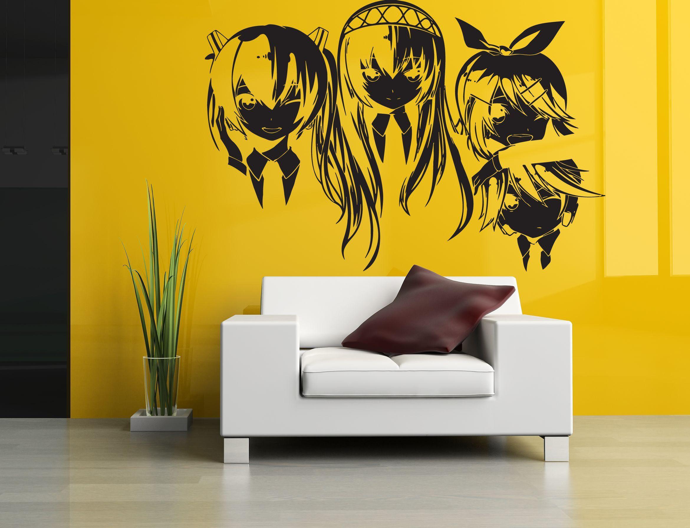 Wall Room Decor Art Vinyl Sticker Mural Decal Anime Hentai Manga 3 ...