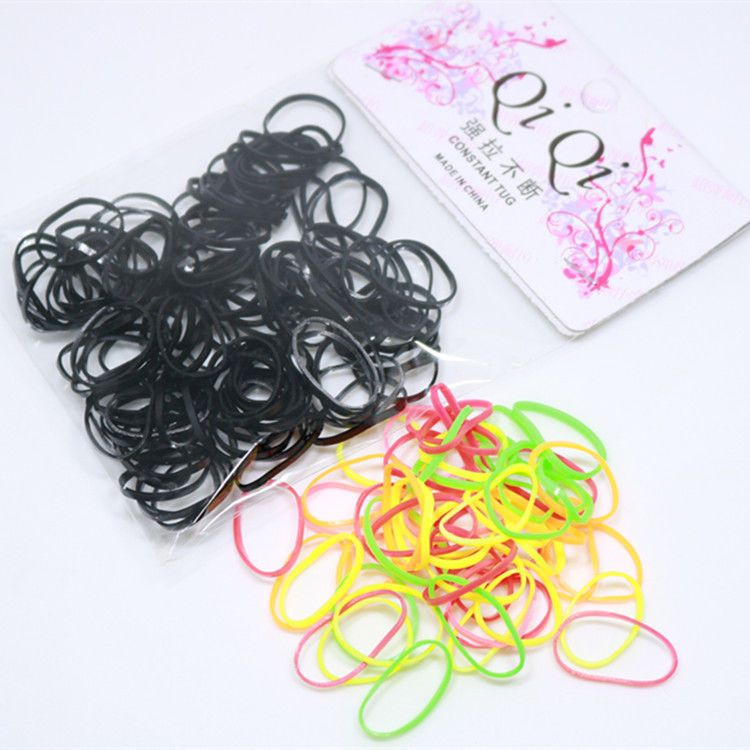 1 Pack Black Elastic Ponytail Holders Hair Rubber Bands Hair Ties