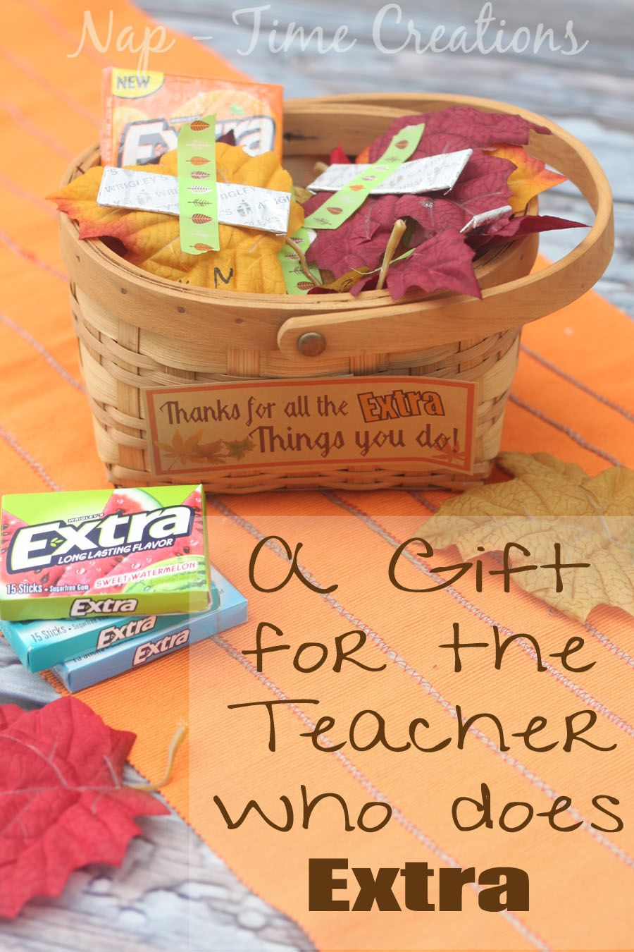 Thanksgiving teacher gift for the one that gives extra for Thank you crafts for teachers