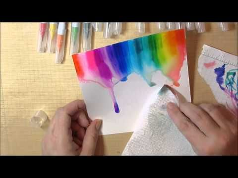 Inspire With Zig Clean Color Watercolor Rainbow Youtube Zigs On