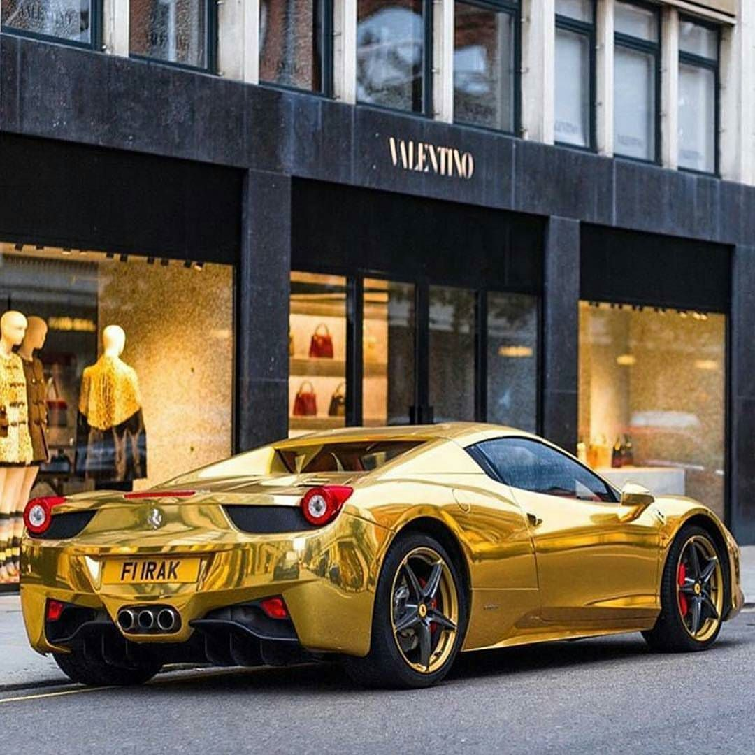 Gold Plated Ferrari What Do You Think Tag A Friend Who Wants